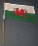 Wales Country Hand Flag - Medium (stitched).